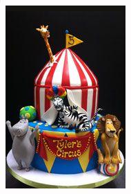 Two Tier Madagascar Circus cake