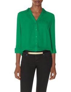 The Ashton Blouse | Women's Tops | THE LIMITED #GreenBlouse #TheLimited