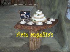 Mesa rustica para ponque