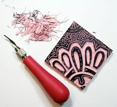 Stamp Carving via @Julie Fei-Fan Balzer
