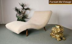 Large S Wave Scoop Lounge Chair Chaise