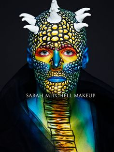 Theatrical Lizard by *sarahmitchellmakeup on deviantART