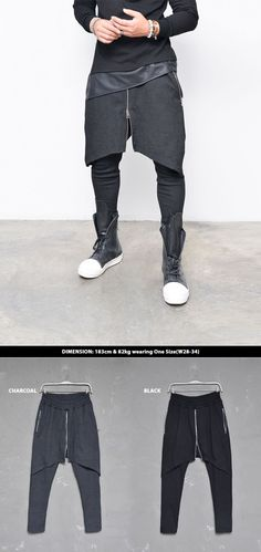 Bottoms :: Center Zip Wrap Layer Jersey Baggy-Sweatpants 219 - Mens Fashion Clothing For An Attractive Guy Look | Guylook.com
