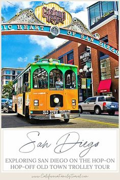 Planning a visit to San Diego with kids? The Old Town Trolley Tour is the perfect way to maximize your time and get around San Diego, all while learning some cool facts about the city! It is one of the best things to do in San Diego. #sandiego #california San Diego Tours, San Diego City, Old Town San Diego, San Diego Travel, San Diego Zoo, San Diego Attractions, California Attractions, California Destinations, California City