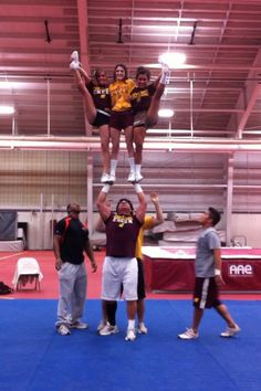 CMU Cheer- Carter Kiogima stunting like a boss!