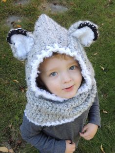 Cozy winter wold hooded cowl for adults! Perfect winter hat and neck warmer. Great gift for someone else or yourself! Pattern by The Velvet Acorn