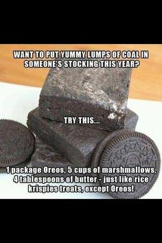 Christmas-Food idea-Coal as a Christmas present!?! THIS IS SOOOO COOL!!!