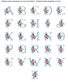 This Pin was discovered by Yur Cross Stitch Alphabet Patterns, Cross Stitch Letters, Cross Stitch Rose, Simple Cross Stitch, Cross Stitch Flowers, Cross Stitch Designs, Stitch Patterns, Cross Stitching, Cross Stitch Embroidery