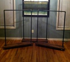 pipe and wood garment rack