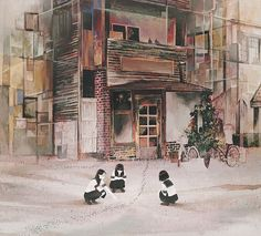 Jun Kumaori is a Japanese artist who illustrates stoic schoolgirls with themes of nostalgia, curiosity, and exploration. Many of her paintings hint styles of classical painters such as Monet, Gustav Klimt, and other varying styles that evolve through out the young artist's years.