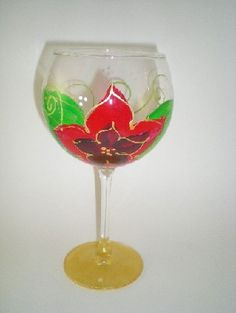 Beautiful Hand Painted Glasses ~ Mary Sears ~ Glorious Goblets