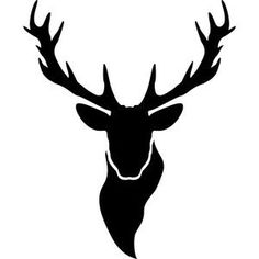 Silhouette Design Store - Product ID Hirsch Silhouette, Deer Head Silhouette, Silhouette Design, Deer Stencil, Stencils, Hunting Decal, Deer Drawing, Reindeer Head, Wood Burning Crafts