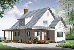 Beautiful & small modern farmhouse house plan!