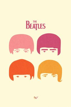 dp-illustrations:    Minimal Beatles  Designed by Jonathan Vizcuna.  posted by dp{i}etsy//facebook//twitter//google+