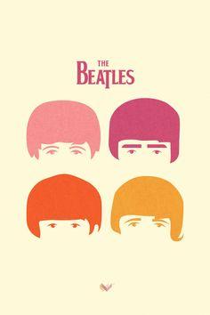 Simplicidade e criatividade formam estes cartazes minimalistas dos Beatles. #illustration #digitalart