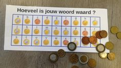 How much is your word worth? – From JufMarjan rnrnSource by Primary Education, Primary School, Escape The Classroom, Math Board Games, Math Notes, Euro, Busy Boxes, Learning Quotes, Mobile Learning