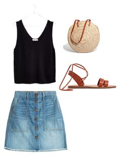 """""""Market day"""" by katiebug1031 on Polyvore featuring Current/Elliott and Madewell"""