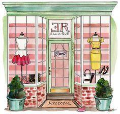 ELLA RUE'S NEW SITE. Sketch, illustration, fashion