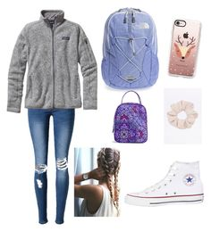 """""""Untitled #3"""" by ella-is-awesome on Polyvore featuring Converse, Patagonia, Casetify, The North Face and Vera Bradley"""