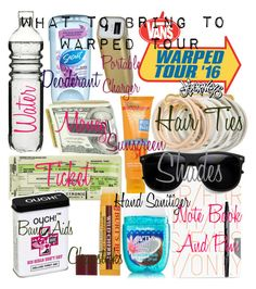 What To Bring To Warped Tour by xcutemonsterx on Polyvore featuring polyvore, fashion, style, Odeme, M-Clip, Burt's Bees, Secret, Kiss My Face, Dot & Bo, Nuuna, Sharpie, women's clothing, women's fashion, women, female, woman, misses and juniors