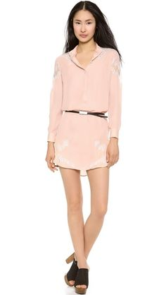 Haute Hippie Shirt Dress with Lace Shoulders, please inbox as to where to send it.