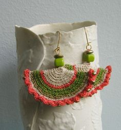 Log in to your Etsy account. Diy Crochet Jewelry, Crochet Jewelry Patterns, Crochet Earrings Pattern, Crochet Cord, Beaded Necklace Patterns, Crochet Accessories, Easy Crochet, Textile Jewelry, Jewellery