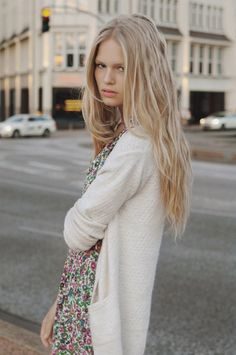 Anna Ewers. Tea dress