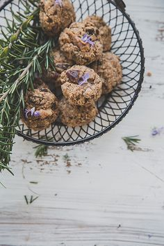 Date Walnut Chia And Rosemary Cookies