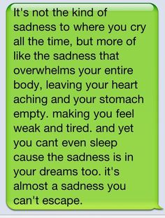 The kind of sadness