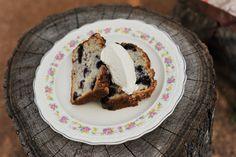Blueberry cream cheese bread