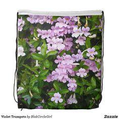 Violet Trumpets Drawstring Backpacks
