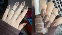 Flormar 493 Hot Chocolate Nail Polish Great ready to book your next manicure, because this nail insp Nail Art Designs, Gel Designs, Design Art, Matte Nail Polish, Nail Polish Colors, Chocolate Caliente, Hot Chocolate, Nail Manicure, Gel Nails