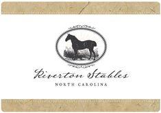 Custom PreMade Vector Logo Design by www.starlingmemory.com  Horse Logo // Equine Logo // Boarding Stables Logo // Equine Photographer Logo