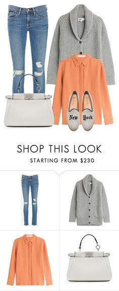 """""""New York"""" by cherieaustin ❤ liked on Polyvore featuring Frame, TSE, See by Chloé, Del Toro and Fendi"""