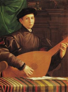 Francesco Salviati (Italie, 1510-1563) – Ritratto di un suonatore di liuto (ca1545-1550) Musée Jacquemart-André, Paris
