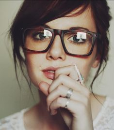 Bangs with glasses, kinda makes me not want to grow my bangs out!