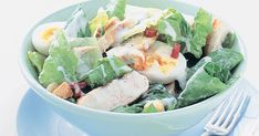 Thanks to some ready-packed salad ingredients, this chicken Caesar is ready in a flash.