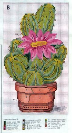 cactus 1 Cactus Cross Stitch, Cross Stitch Tree, Cross Stitch Flowers, Cactus Embroidery, Embroidery Patterns, Modern Cross Stitch Patterns, Cross Stitch Designs, Cross Stitching, Cross Stitch Embroidery