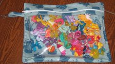 Pirate ships medium zippered pouch with vinyl front and swivel hook - pinned by pin4etsy.com