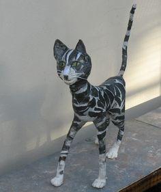 Papier Mache Cat.