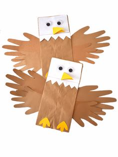 Fun Crafts For Kids, Crafts To Make, Activities For Kids, Patriotic Crafts, July Crafts, Eagle Craft, Paper Bags, Craft Videos, Geography