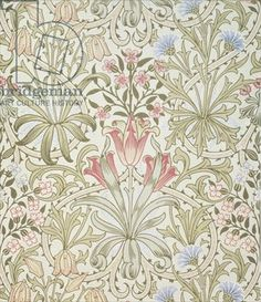 """""""Persian"""" wallpaper, designed by John Henry Dearle (1860-1932) for Morris and Company"""