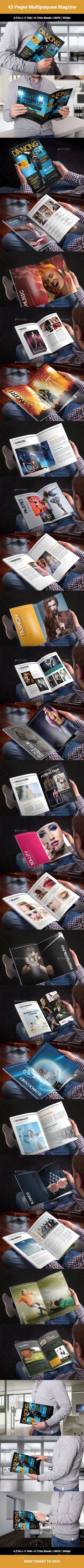 43 Pages Multipurpose Magzine Design Fashion Lookbook