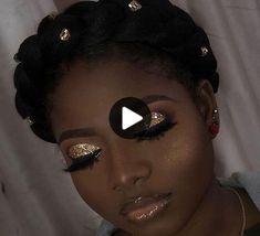 Gorgeous Makeup: Tips and Tricks With Eye Makeup and Eyeshadow – Makeup Design Ideas Glam Makeup, Gold Eye Makeup, Dark Skin Makeup, Makeup On Fleek, Glitter Makeup, Flawless Makeup, Cute Makeup, Gorgeous Makeup, Eyeshadow Makeup