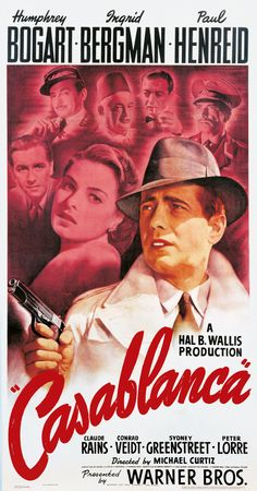 casablanca movie What Old Hollywood Film Do You Belong In? Iconic Movie Posters, Cinema Posters, Movie Poster Art, Poster S, Iconic Movies, Old Movies, Film Posters, Vintage Movies, Vintage Posters