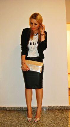 #leatherskirt Leather Skirt, Hot, Skirts, Style, Fashion, Swag, Moda, Leather Skirts, Skirt