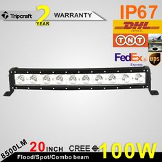 129.20$  Buy here - http://ali40i.worldwells.pw/go.php?t=32781444916 - 20inch 100W Curved LED Light Bar Single Row Offroad For Trailer Marine Truck SUV ATV LED Driving Work Lamp With CREEss Chips  129.20$