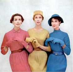 There's nothing basic about the primary hues at work in this understatedly lovely 1950s ensembles.