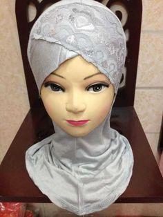 10pcs/lot,  10 colors lace  Inner ninja cap underscarf  islam inner hat muslim inner cap, IN5009