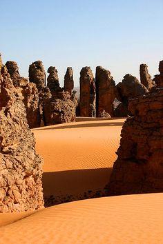 magical landscape at désert algeria